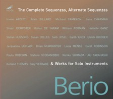 Berio Complete Sequenzas CD Cover